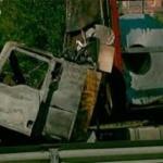 Colisionan dos camiones en la M-50 a la altura de San Fernando de Henares