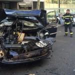 Un camión sin conductor hiere a una mujer y arrolla a seis vehículos en Madrid
