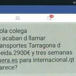 Me acaban de llamar: 2.900€ en transportes Tarragona