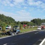 Un joven 22 años muere al chocar contra un camión cuando iba contradirección por la A-54