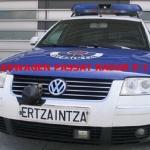 El coche de radar de la Ertzaintza, multado con 200 € y 4 puntos por exceso de velocidad