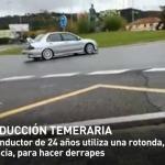 Detenido un conductor por utilizar una rotonda para hacer derrapes con el coche