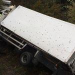 Una salida de vía de un camión en Curtis se salda con un conductor muerto