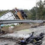 Un muerto y un herido al chocar un camión y un turismo en Manlleu
