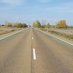 Líneas verdes en tramos de velocidad controlada por radar