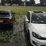 El granizo gigante que destroza los coches en los Países Bajos!