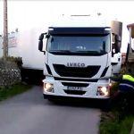 Un camionero rumano acabó atrapado en la trampa de los GPS de San Martiño