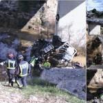Rescatado el cuerpo sin vida de un camionero que ha caído por un puente en Murcia