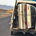 Multada una furgoneta por un peculiar transporte en Almería