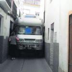 Caravana atrapada en Cazorla al seguir las indicaciones del GPS