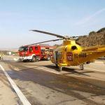 Fallece un camionero al quedar atrapado en la cabina en Castilla la Mancha