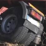 Una mujer salva la vida en Vilaboa tras pasar un camión por encima de su coche
