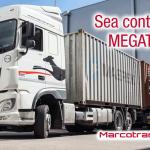 Marcotran introduce sus megacamiones con contenedores en el puerto de Barcelona