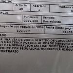 Multa de 200 euros por «no arrimarse lo más cerca posible al borde derecho de la calzada»
