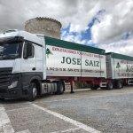 El primer 'megacamión' llega a Cantabria con Maderas José Sáiz