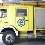 Multan a un camión de bomberos por ir sin ITV cuando acudía a sofocar un incendio