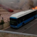 Explota un autobús  nuevo en Madrid