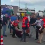 La policía belga utiliza la fuerza para pedir  pruebas del lugar donde los conductores han dormido