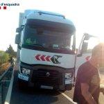 Detenido un camionero de Campillo Palmera, borracho, haciendo eses en la A7