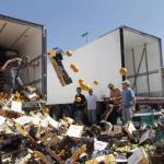 Agricultores franceses atacan camiones españoles en Perpiñán en protesta por la competencia española
