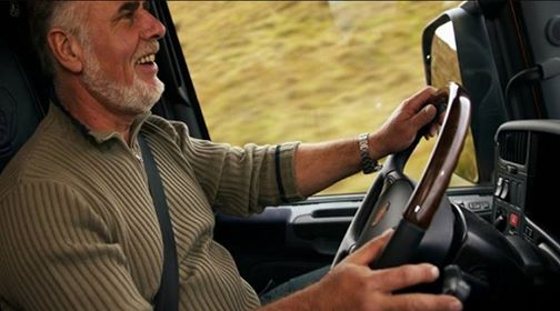 Camionero - Jubilado - Foto de archivo