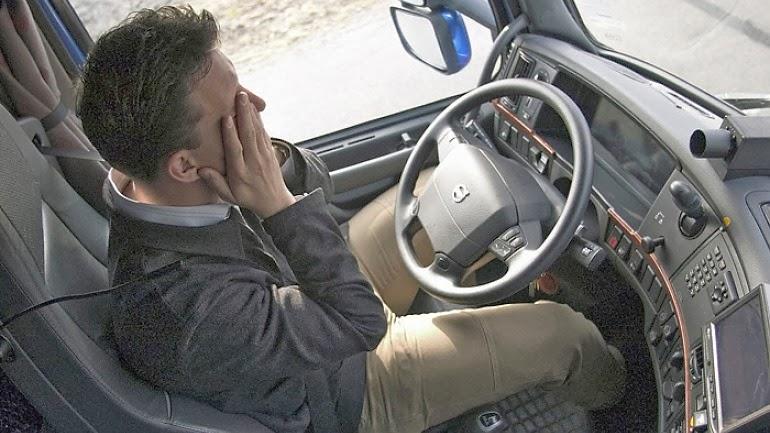 El cansancio de los conductores de camiones hará que el vehículo se detenga automáticamente.
