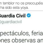 El ZASCA que se ha llevado la Guardia Civil con este tuit provoca una ovación de 3 horas en las redes