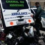 Encuentran cuatro motos robadas dentro de una ambulancia con matrícula marroquí