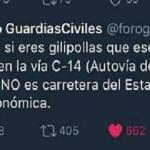 El zasca del año de la Guardia Civil a quien acusa de las muertes de tráfico en Cataluña  son victimas de la ocupación española