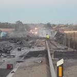Trágico choque frontal de dos camiones cerca de Albacete