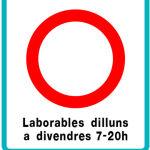 Así será la señal que prohibirá el acceso a Barcelona de los vehículos más contaminantes