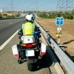 El homenaje de la Guardia Civil al agente fallecido la pasada semana en la A-1