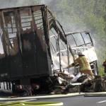 31 heridos y 17 desaparecidos, tras chocar un autobús con un camión en Alemania