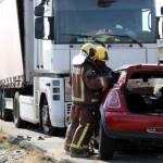 Dos mujeres fallecen en una colisión frontal entre un camión y un coche en Juneda