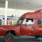 Cachondeo con el coche que se encontró un hombre en una gasolinera