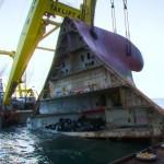 El increíble rescate del barco hundido con 1.400 coches en su interior