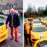 Abuelo es acosado por su coche amarillo; todo un pueblo pinta sus vehículos para apoyarlo