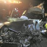 Muere un 'kamikaze' al chocar con un camión en la A-23 en Barracas