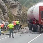 Cinco muertos, entre ellos tres menores, en un accidente en la N-I a la altura de la localidad burgalesa de Pancorbo