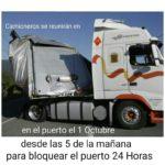 Llaman a los camioneros a bloquear a la policía en el puerto de Barcelona el 1 de octubre