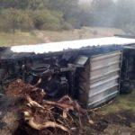 Alerta! Un fallecido al incendiarse un camión en la N-234