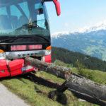 Un turista salva un autobús de una caída a un barranco de 100 metros con el conductor desmayado