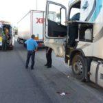 Un camionero ebrio herido al caerse de la cabina en Onda