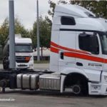 Ladrones desguazan medio camión nuevo aparcado en el Centro Rutier de Estrasburgo