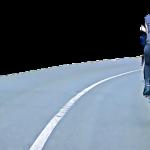 ¿Se puede pisar la linea continua para superar a un ciclista?