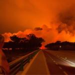 VÍDEO | Un conductor portugués queda atrapado por las llamas en la carretera