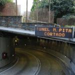 Multa y retirada de carné para el camionero ebrio atrapado en el túnel de María Pita