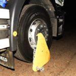 Comienza una prueba de bloqueos de camiones mal aparcados en la  A20