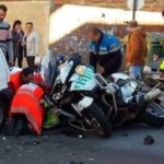 Un motorista de la Guardia Civil resulta herido en un accidente de tráfico