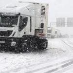 Restringido el paso de camiones en la A-23, sentido Francia, debido a la nieve
